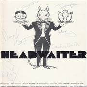 Click here for more info about 'Headwaiter - Autographed'