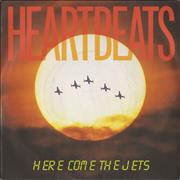 "Heartbeats Here Come The Jets UK 7"" vinyl"