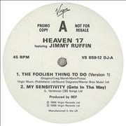 Click here for more info about 'Heaven 17 - The Foolish Thing To Do'