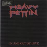 Click here for more info about 'Heavy Pettin - In And Out Of Love + metal badge'