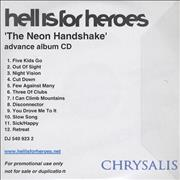 Click here for more info about 'Hell Is For Heroes - The Neon Handshake'