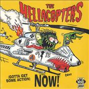 """Hellacopters Gotta Get Some Action Now Sweden 7"""" vinyl"""