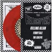 "Hellacopters Killing Allan - Red Vinyl UK 7"" vinyl"