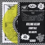"Hellacopters Killing Allan - Yellow Vinyl Sweden 7"" vinyl"
