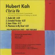 Click here for more info about 'Hubert Kah - C'est La Vie'