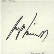 Click here for more info about 'Hugh Cornwell - Autograph'