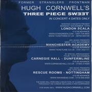 Click here for more info about 'Hugh Cornwell - Autographed Tour Poster'