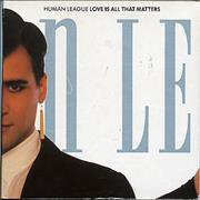 Click here for more info about 'Human League - Love Is All That Matters'