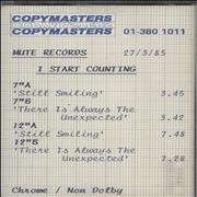 I Start Counting Still Smiling UK cassette album Promo