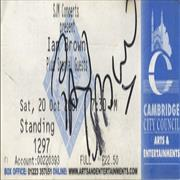 Click here for more info about 'Ian Brown - Cambridge Corn Exchange Signed Ticket'