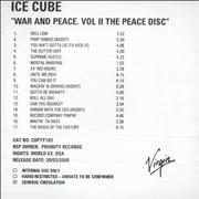 Click here for more info about 'Ice Cube - War And Peace. Vol II The Peace Disc'