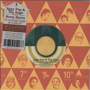 "Iggy Pop If I'm In Luck I Might Get Picked Up - Green Vinyl USA 7"" vinyl"