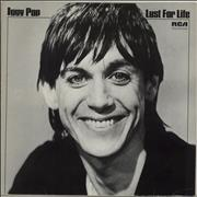 Iggy Pop Lust For Life - Second Issue Germany vinyl LP