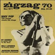 Iggy Pop Zig Zag #70 UK magazine