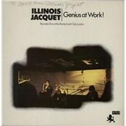 Illinois Jacquet Genius At Work! - Autographed UK vinyl LP