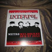 Click here for more info about 'Interpol - Australian Tour Poster'