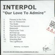 Click here for more info about 'Interpol - Our Love To Admire'