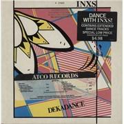 """Inxs Dekadance EP - Timing Strip & Promo Stamped USA 12"""" vinyl"""