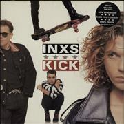 Inxs Kick - Black Hype Sticker - EX UK vinyl LP