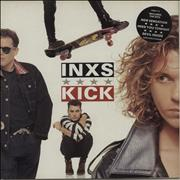 Inxs Kick - Stickered Sleeve UK vinyl LP