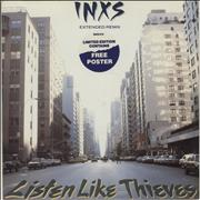 "Inxs Listen Like Thieves - Incl Poster UK 12"" vinyl"