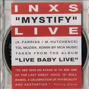 Click here for more info about 'Inxs - Mystify - Live Baby Live'