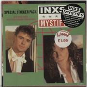 """Inxs Mystify - Sticker Pack - Sealed UK 7"""" vinyl"""