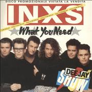 "Inxs What You Need Italy 7"" vinyl Promo"