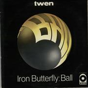Click here for more info about 'Iron Butterfly - Ball - yellow label'