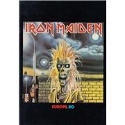 Iron Maiden Europe 80 + Ticket UK tour programme