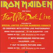 Click here for more info about 'Iron Maiden - Fear Of The Dark Live - Display Flat'
