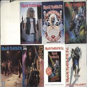 Iron Maiden International Edition FC Magazines - Five Copies + Biography UK fanzine