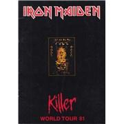 Iron Maiden Killer World Tour '81 UK tour programme