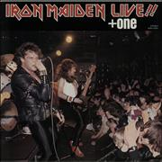 "Iron Maiden Live + One with insert Japan 12"" vinyl"