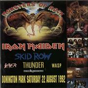 Click here for more info about 'Iron Maiden - Monsters Of Rock Tour Programme 1992'
