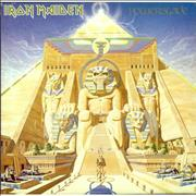 Iron Maiden Powerslave - Textured Sleeve + Merchandise Insert UK vinyl LP