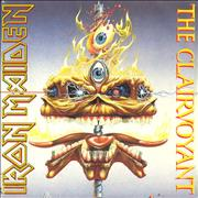 Click here for more info about 'Iron Maiden - The Clairvoyant - Clear vinyl - Poster Sleeve - EX'