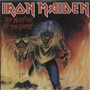 Click here for more info about 'Iron Maiden - The Number Of The Beast - Red Vinyl + P/S'