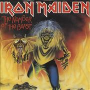Click here for more info about 'Iron Maiden - The Number Of The Beast - Red Vinyl + P/S - EX'