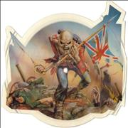 Iron Maiden The Trooper - No V Cut UK shaped picture disc
