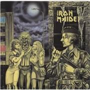 "Iron Maiden Women In Uniform - Black & Silver label UK 12"" vinyl"