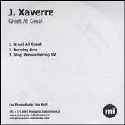 Click here for more info about 'J Xaverre - Great All Great'