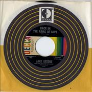 """Jack Greene Back In The Arms Of Love USA 7"""" vinyl"""