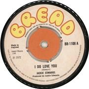 """Jackie Edwards I Do Love You UK 7"""" vinyl"""