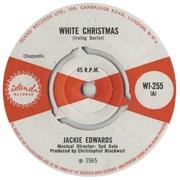 """Jackie Edwards White Christmas UK 7"""" vinyl"""