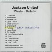 Click here for more info about 'Jackson United - Western Ballads + PR'