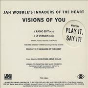 Click here for more info about 'Jah Wobble - Visions Of You'