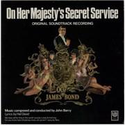 James Bond On Her Majesty's Secret Service UK vinyl LP
