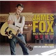 James Fox Hold Onto Our Love UK 2-CD single set