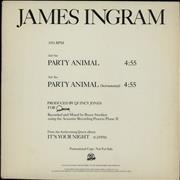 Click here for more info about 'James Ingram - Party Animal'